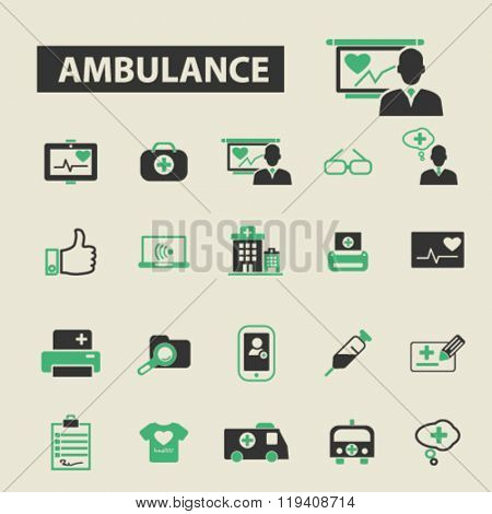 ambulance icons, ambulance logo, ambulance vector, ambulance flat illustration concept, ambulance infographics, ambulance symbols,
