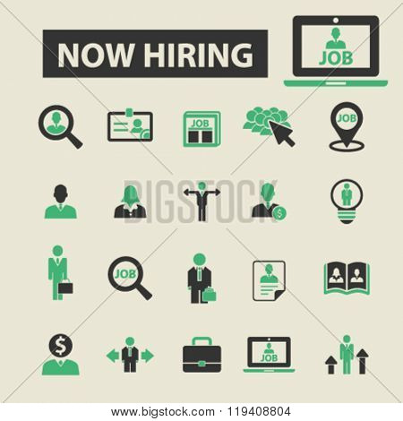 now hiring icons, now hiring logo, now hiring vector, now hiring flat illustration concept, now hiring infographics, now hiring symbols,