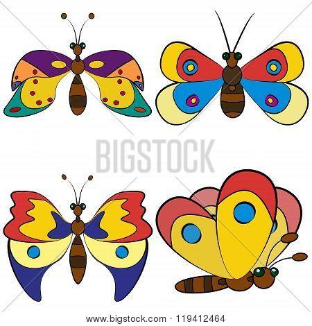 Butterfly Set Patterns.