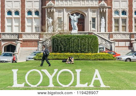 New Orleans, La/usa - Circa March 2009: Main Entrance To Loyola University In New Orleans,  Louisian