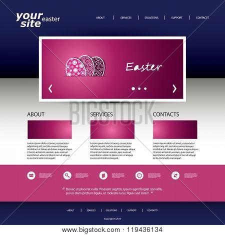 Website Design Template - Easter Theme