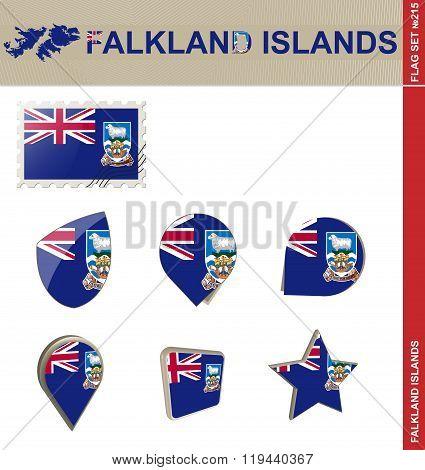 Falkland Islands Flag Set, Flag Set #215