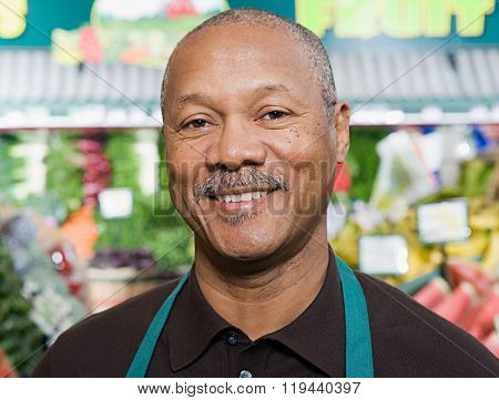 Portrait of a greengrocer