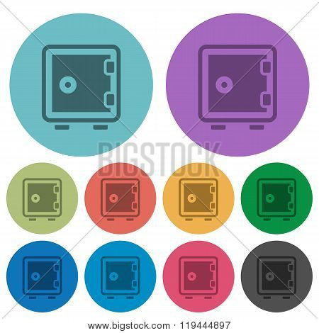 Color Strong Box Flat Icons