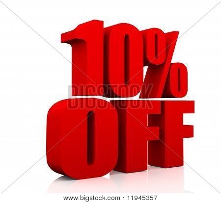 Sale promotion text 10 percent off