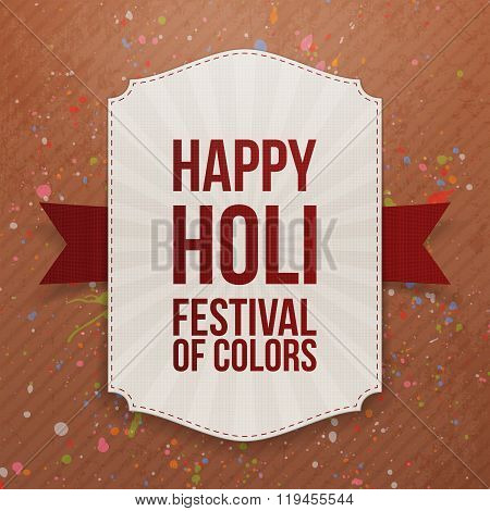 Holi indian Festival colorful Banner