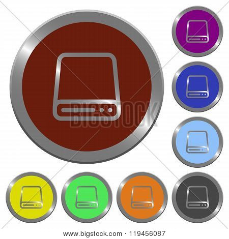 Color Hard Disk Drive Buttons