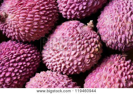 Lychee Fruit, Closeup (litchi, Liechee, Or Lichee)