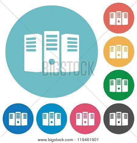 Flat Server Hosting Icons