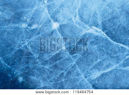 Abstract ice texture with air bubble