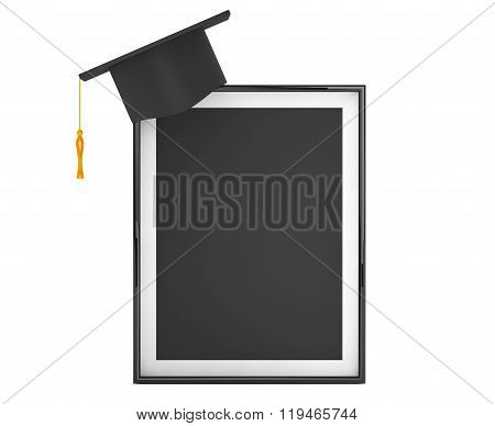 Graduation Academic Cap With Blank Photo Frame