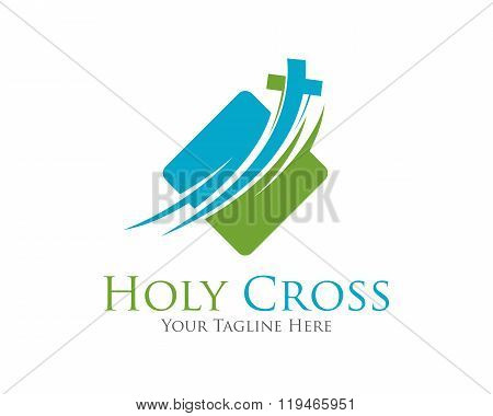 Cross Vector Logo Design Template. Template Logo For Churches And Christian Organizations Cross .