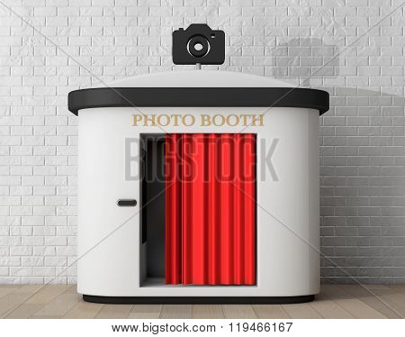 Photo Booth. 3D Rendering