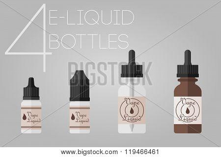 4 E-liquid Bottles
