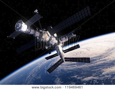International Space Station Orbiting Earth