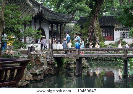 Suzhou, China - Circa September 2015: Classical Garden In Suzhou,  China