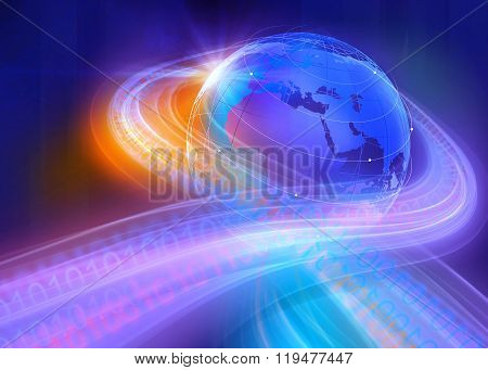 Graphical Digital Binary World Background