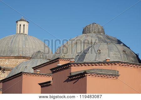 Domes of Haseki Hurrem Sultan Bathhouse, Istanbul, Turkey