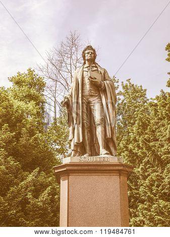 Schiller Statue In Frankfurt Vintage