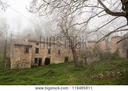Abandoned Village In French Pyrenees