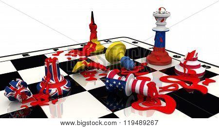 Russia's victory in geopolitics. Concept