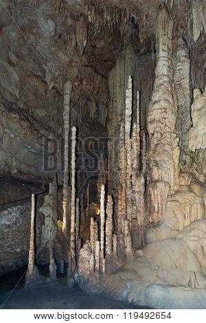 San Antonio, Tx/usa - Circa February 2016: Stalagmites In Natural Bridge Caverns Near San Antonio,