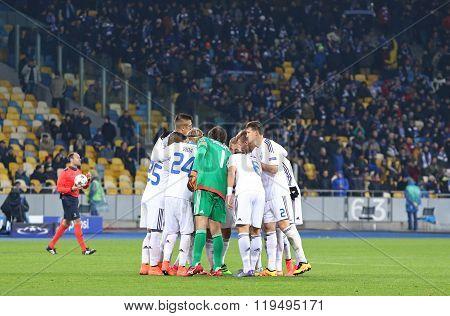 Uefa Champions League Game Fc Dynamo Kyiv Vs Manchester City In Kyiv, Ukraine