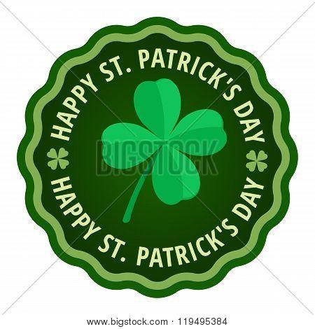 Happy Saint Patricks day greeting card label