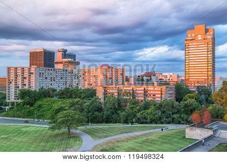 Kansas City, Mo/usa - Circa July 2015: High Rise Buildings In Kansas City,  Missouri