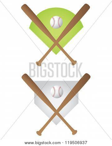 Vector Baseball Symbol Set