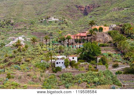 Secluded Village On Mountain Slope