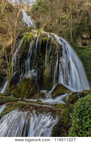 walk in the forest waterfall arroyo  corraladas