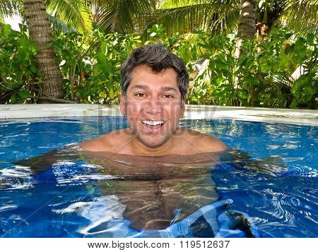 Man In A Jacuzzi