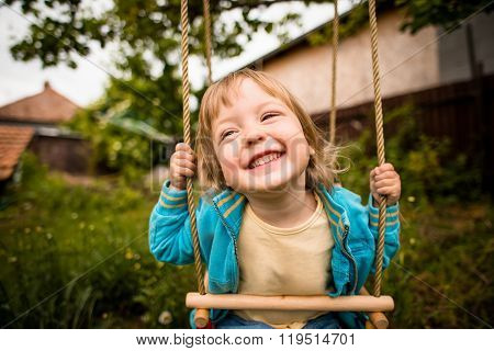 Enjoying swinging