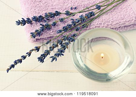 Relaxing lavender aromatherapy.