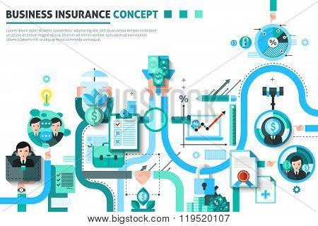 Business Insurance Concept Illustration
