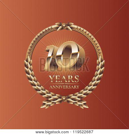 Ten years anniversary celebration design