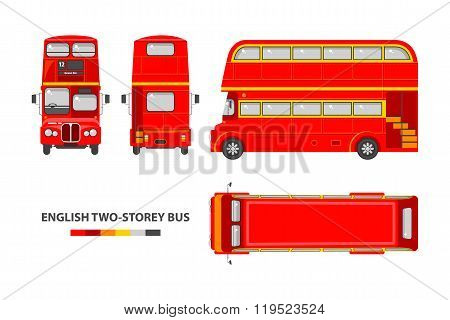 English red double decker bus