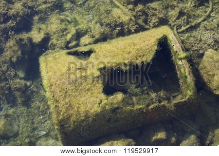 Adriatic sea floor pollution.