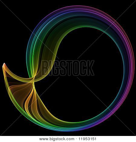 Brightly colored abstract poster