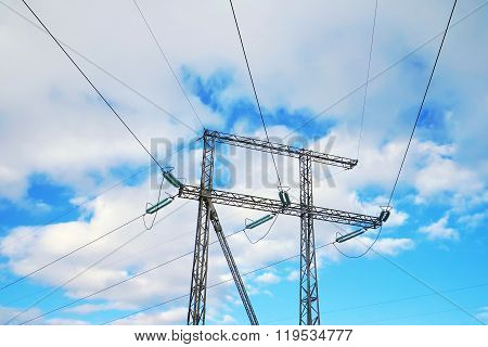 Reliance Power Lines With Cables.