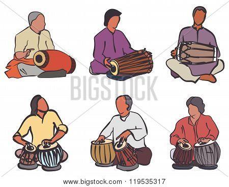Indian Drums Set