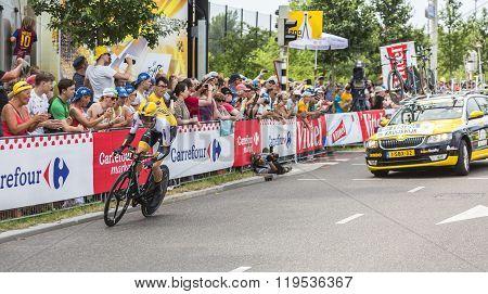 The Cyclist Steven Kruijswijk - Tour De France 2015