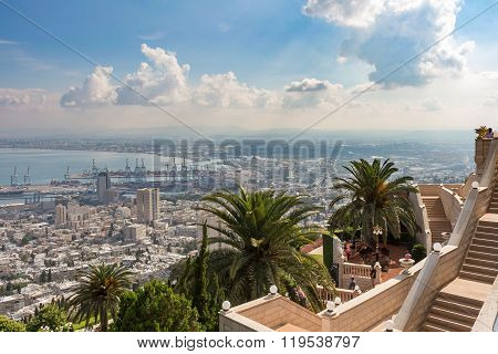 Cityview From Mountain. Cityscape. Haifa
