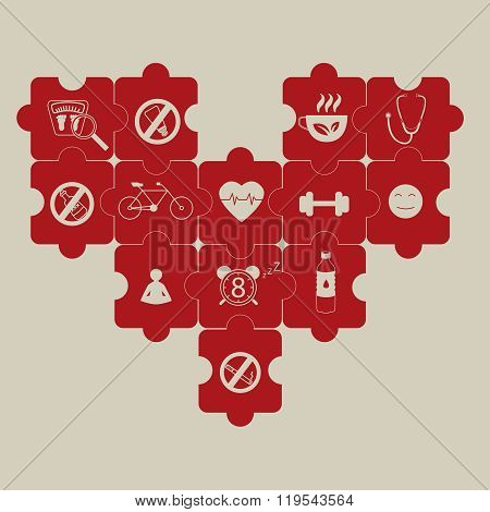 heart puzzle and prevention of hypertension