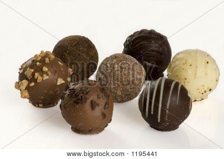 Seven Assorted Truffles