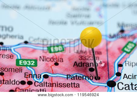Paterno pinned on a map of Italy