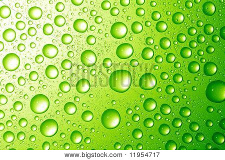 Water drops on metallic surface