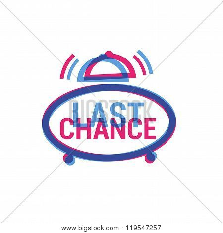 Vector Last Chance eye catching label