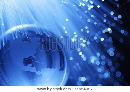 Earth & fiber optics